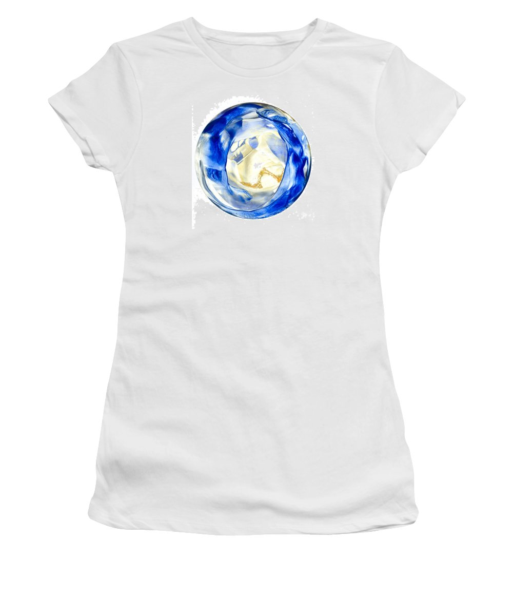 Mandala Women's T-Shirt (Athletic Fit) featuring the painting to See your Truth by Heather Hennick