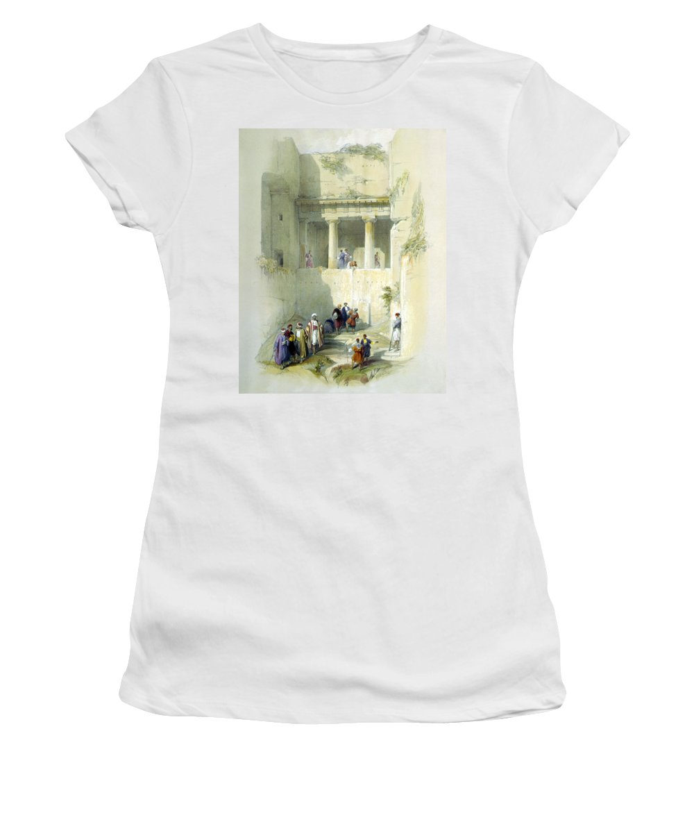 Tomb Of St. James Women's T-Shirt (Athletic Fit) featuring the digital art Tomb Of St. James by Munir Alawi