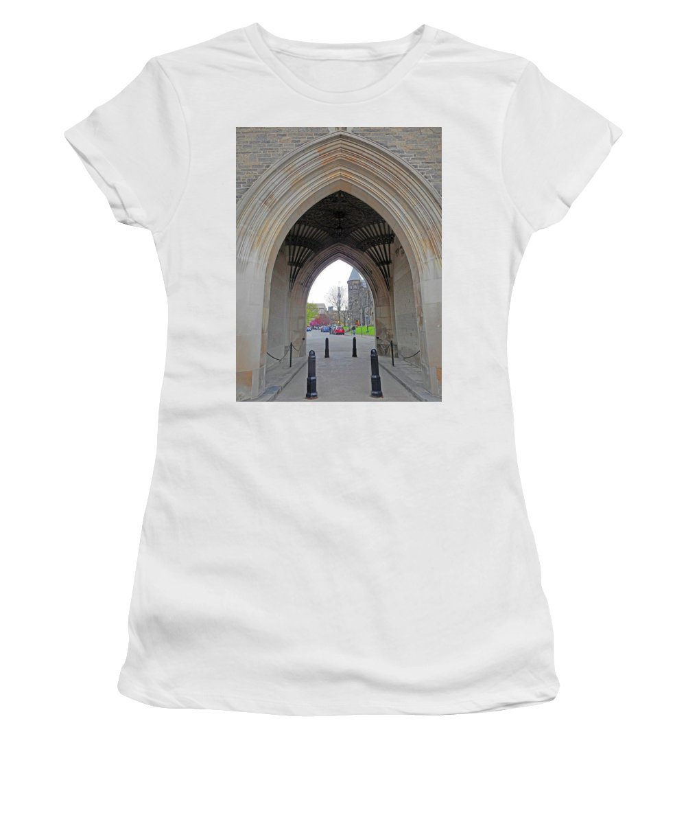Toronto Women's T-Shirt (Athletic Fit) featuring the photograph Toronto 26 by Ron Kandt