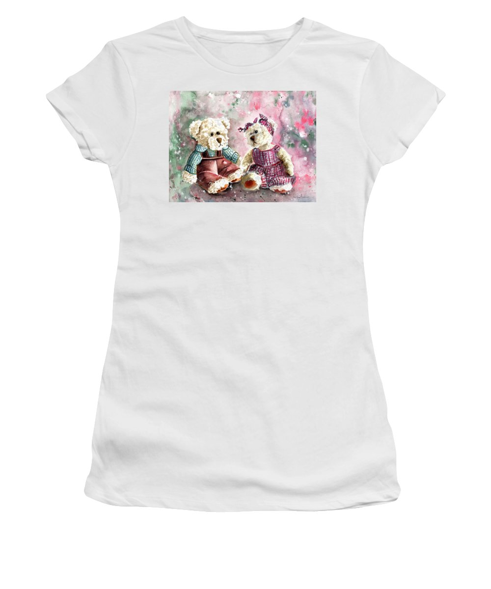 Truffle Mcfurry Women's T-Shirt featuring the painting Toto Et Lolo by Miki De Goodaboom