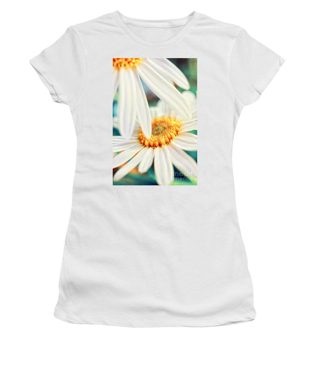 Flowers Women's T-Shirt (Athletic Fit) featuring the photograph Touch by Silvia Ganora