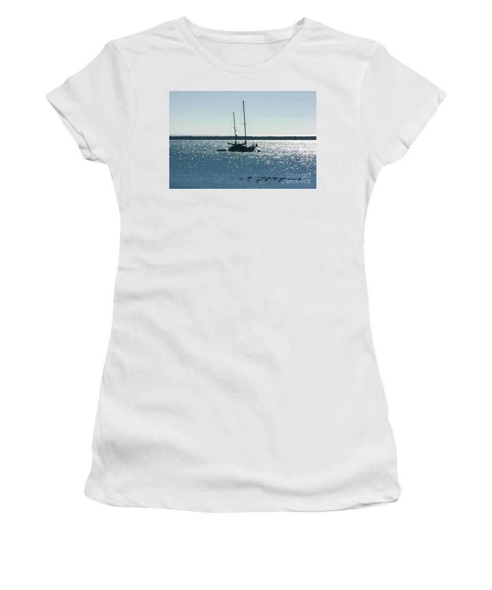 Seascape Women's T-Shirt (Athletic Fit) featuring the photograph Tranquil Bay by Carol Groenen