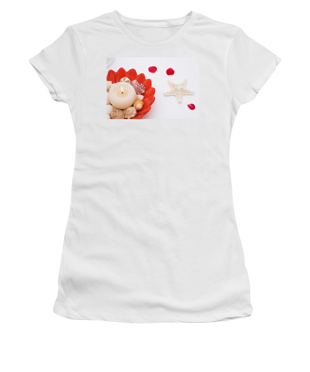 Shell Women's T-Shirt (Athletic Fit) featuring the photograph Tranquility by Diane Macdonald