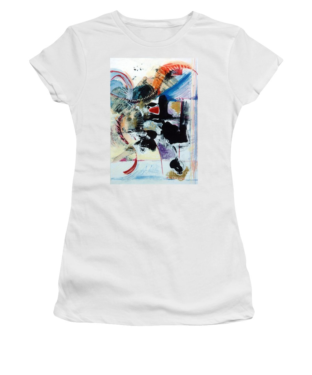 Transcendance Women's T-Shirt (Athletic Fit) featuring the drawing Transcendance by Kerryn Madsen-Pietsch