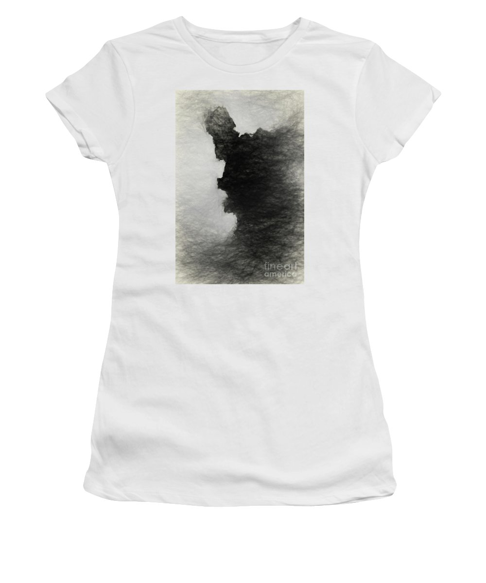 Tree Women's T-Shirt (Athletic Fit) featuring the photograph Tree Bark Collection # 46 by Philip Johnson