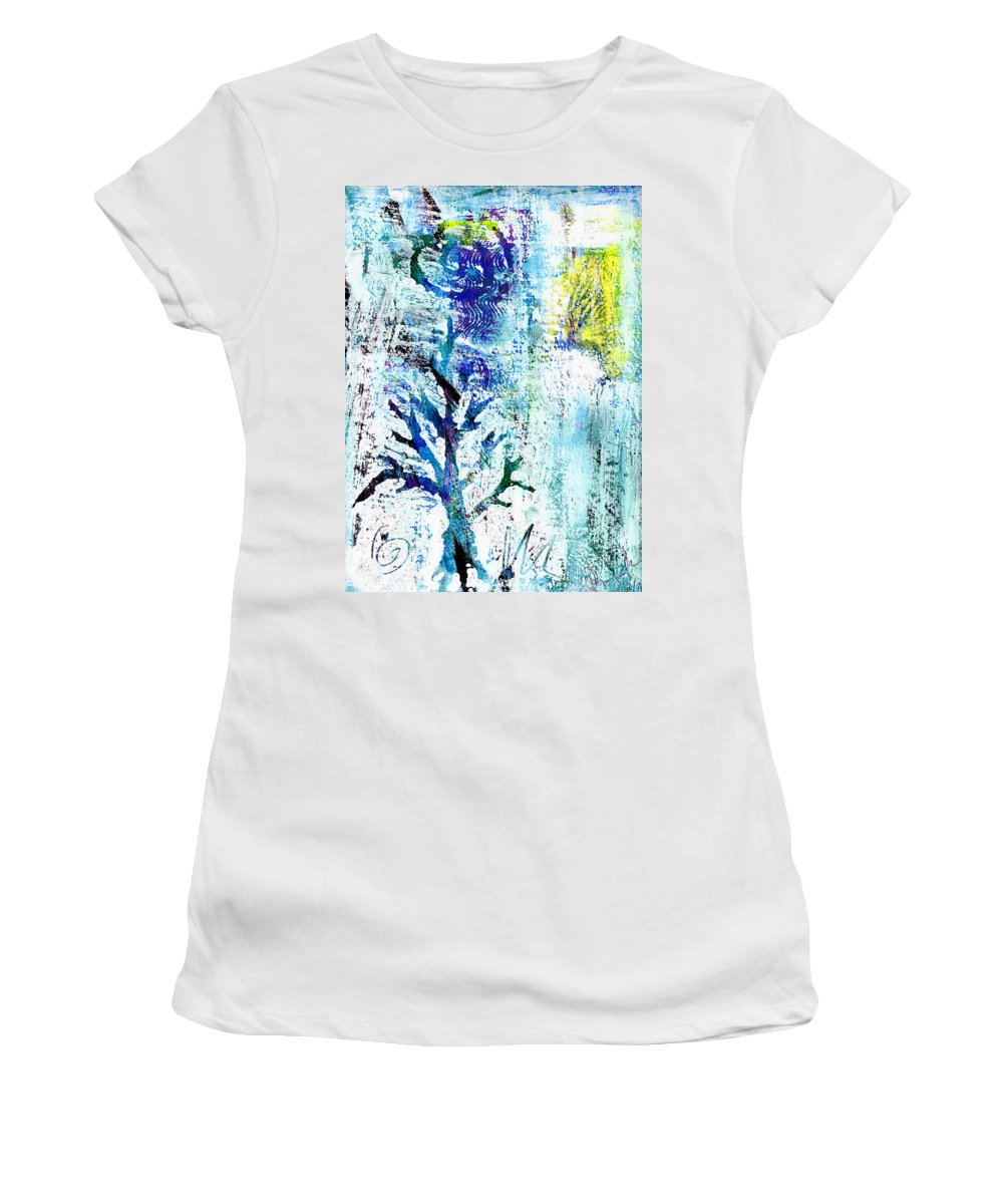 Tree Women's T-Shirt featuring the painting Tree Of Life by Wayne Potrafka