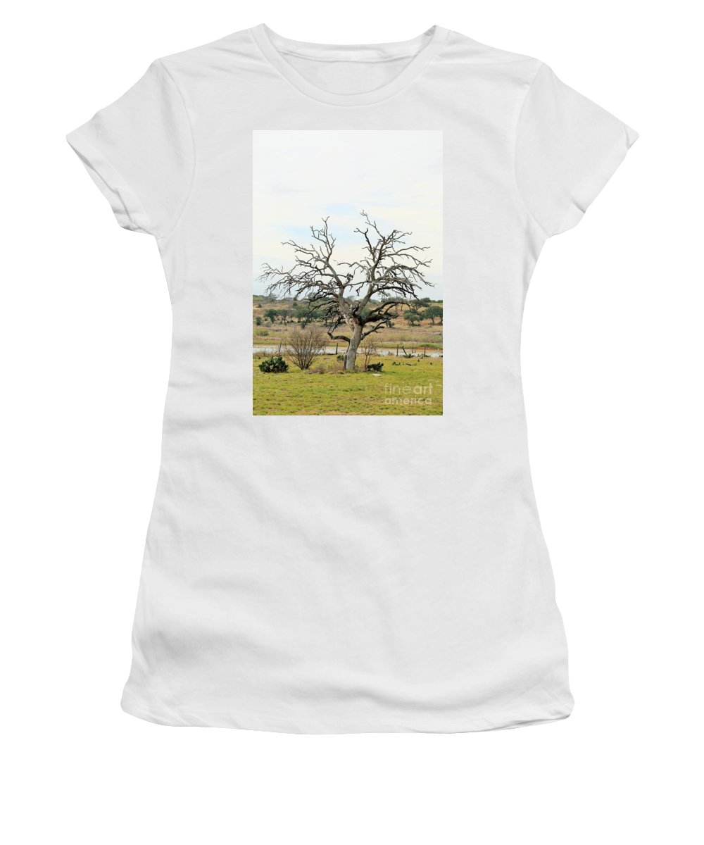 Women's T-Shirt featuring the photograph Tree009 by Jeff Downs
