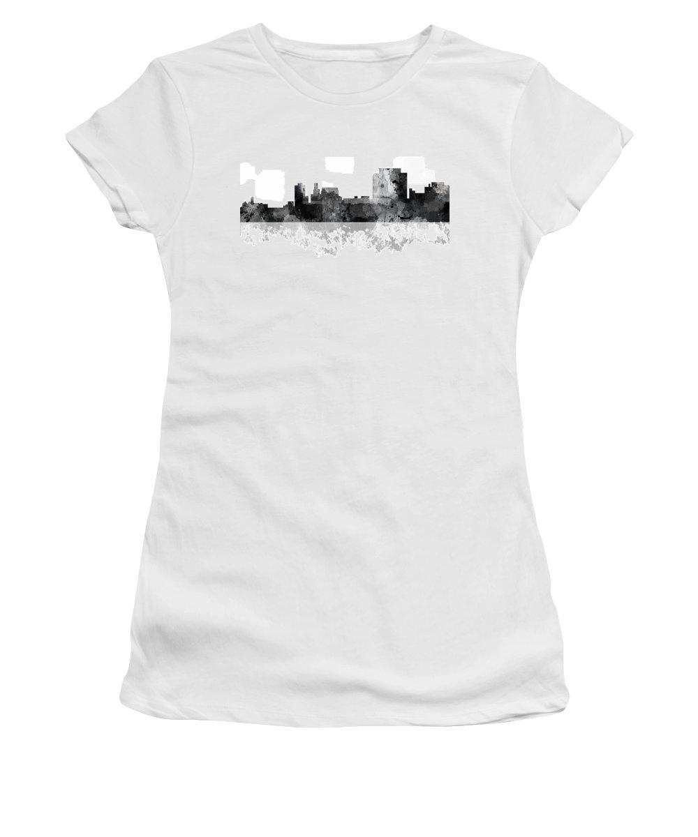 Trenton New Jersey Skyline Women's T-Shirt featuring the digital art Trenton New Jersey Skyline by Marlene Watson