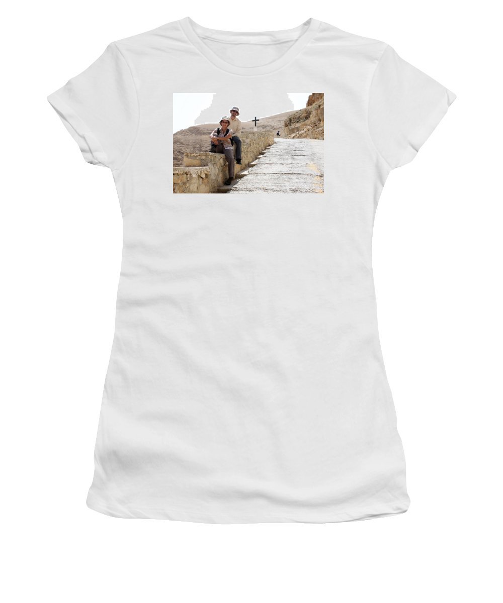 Trip Women's T-Shirt (Athletic Fit) featuring the photograph Trip To Jericho by Munir Alawi