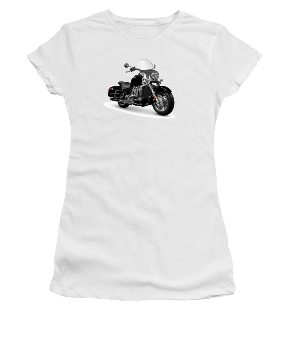 Motorcycle Women's T-Shirt (Athletic Fit) featuring the photograph Triumph Rocket IIi Motorcycle by Oleksiy Maksymenko