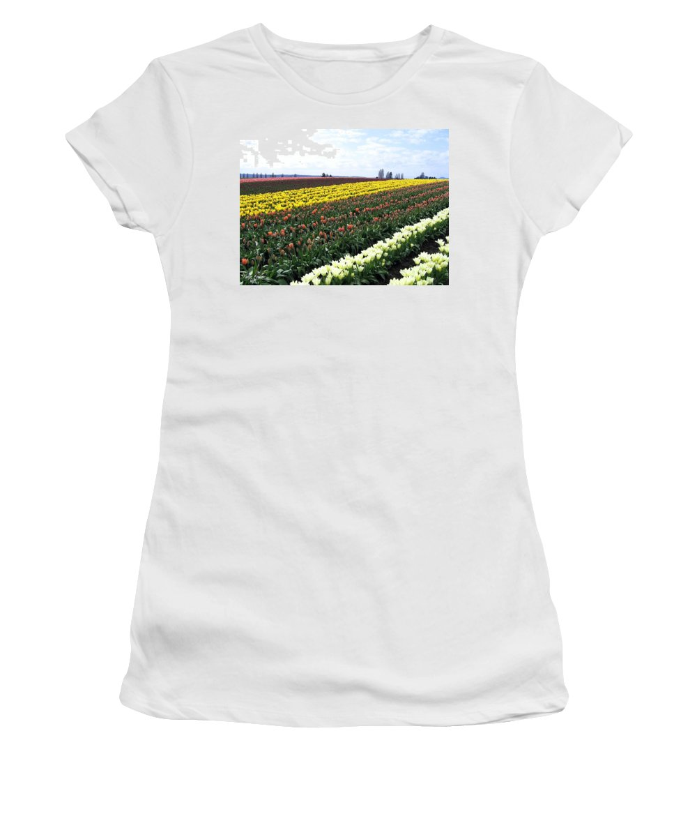 Agriculture Women's T-Shirt (Athletic Fit) featuring the photograph Tulip Town 11 by Will Borden