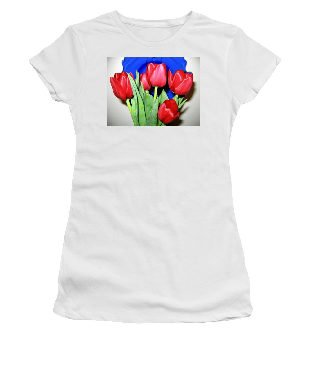 Tulips Women's T-Shirt (Athletic Fit) featuring the photograph Tulipfest 1 by Will Borden