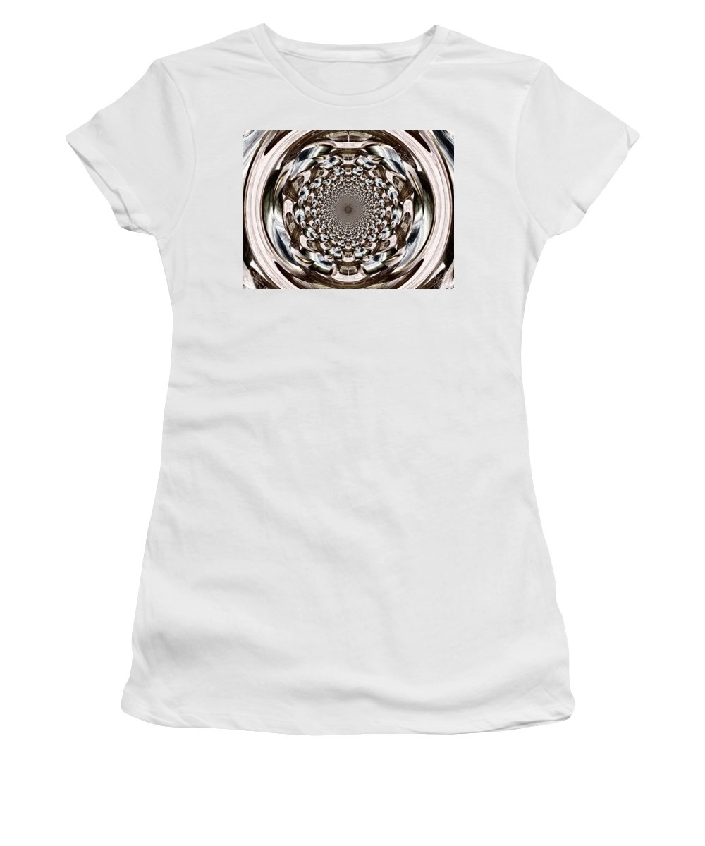Orb Women's T-Shirt featuring the digital art Tunnel Vision by Charleen Treasures