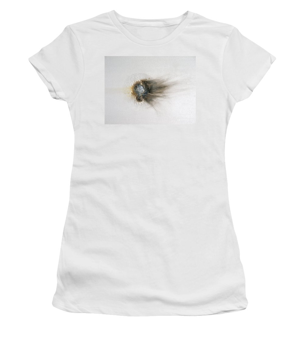 Abstract Women's T-Shirt (Athletic Fit) featuring the painting Turtles All The Way Down by Jay Taylor