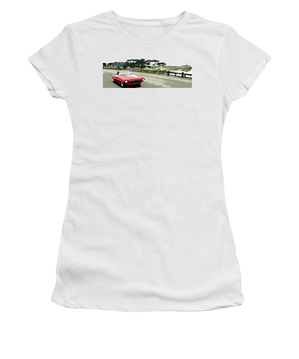Automobile Women's T-Shirt (Athletic Fit) featuring the photograph UFO by Alan Olmstead