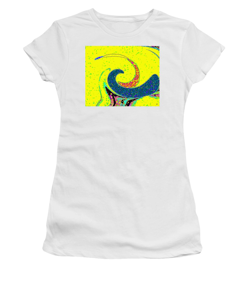 Abstract Women's T-Shirt (Athletic Fit) featuring the digital art Under The Microscope by Will Borden