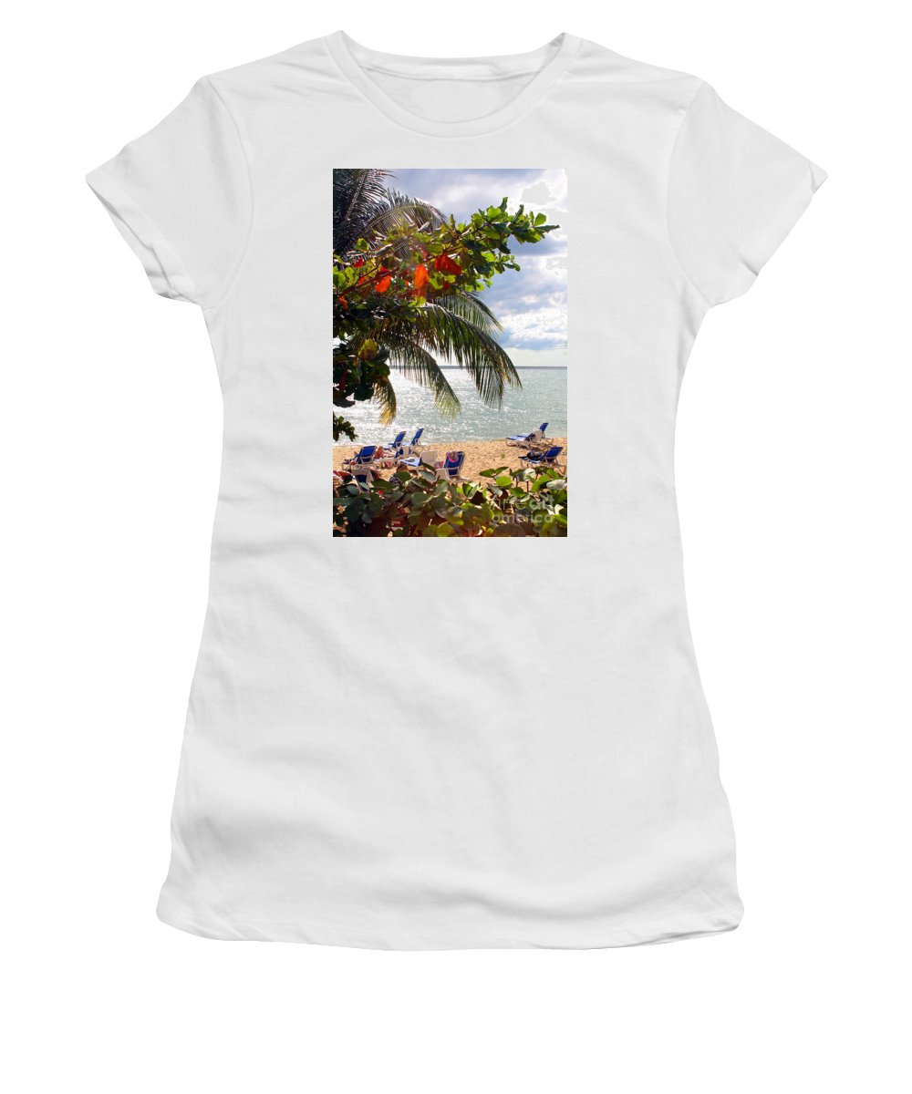 Palm Women's T-Shirt featuring the photograph Under The Palms In Puerto Rico by Madeline Ellis