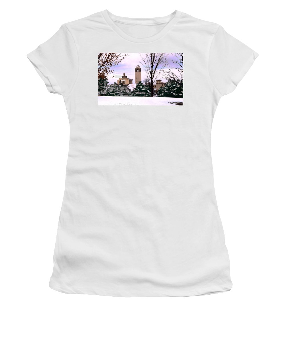 Landscape Women's T-Shirt (Athletic Fit) featuring the photograph Unity Village by Steve Karol