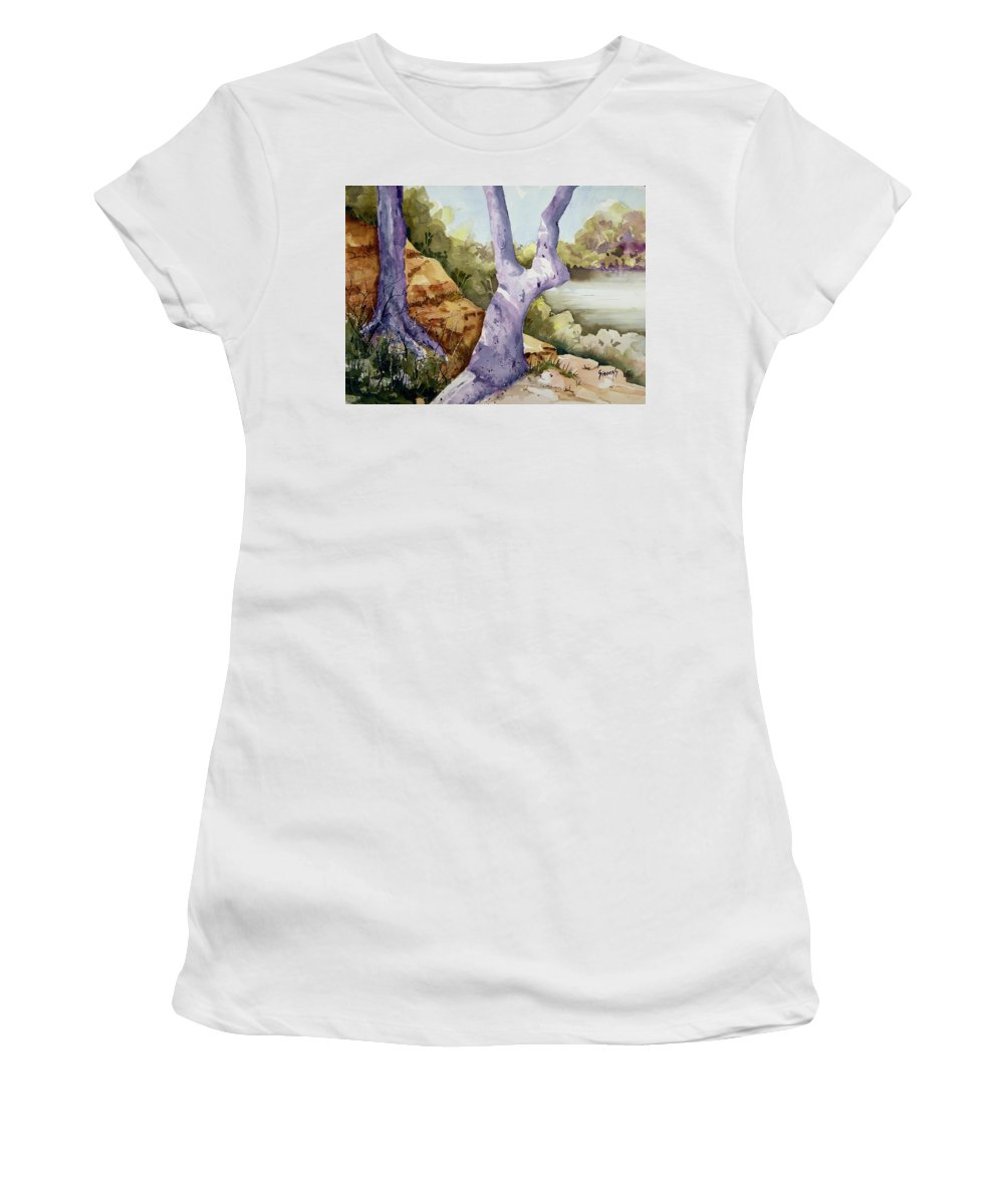 Tree Women's T-Shirt featuring the painting Untitled by Sam Sidders