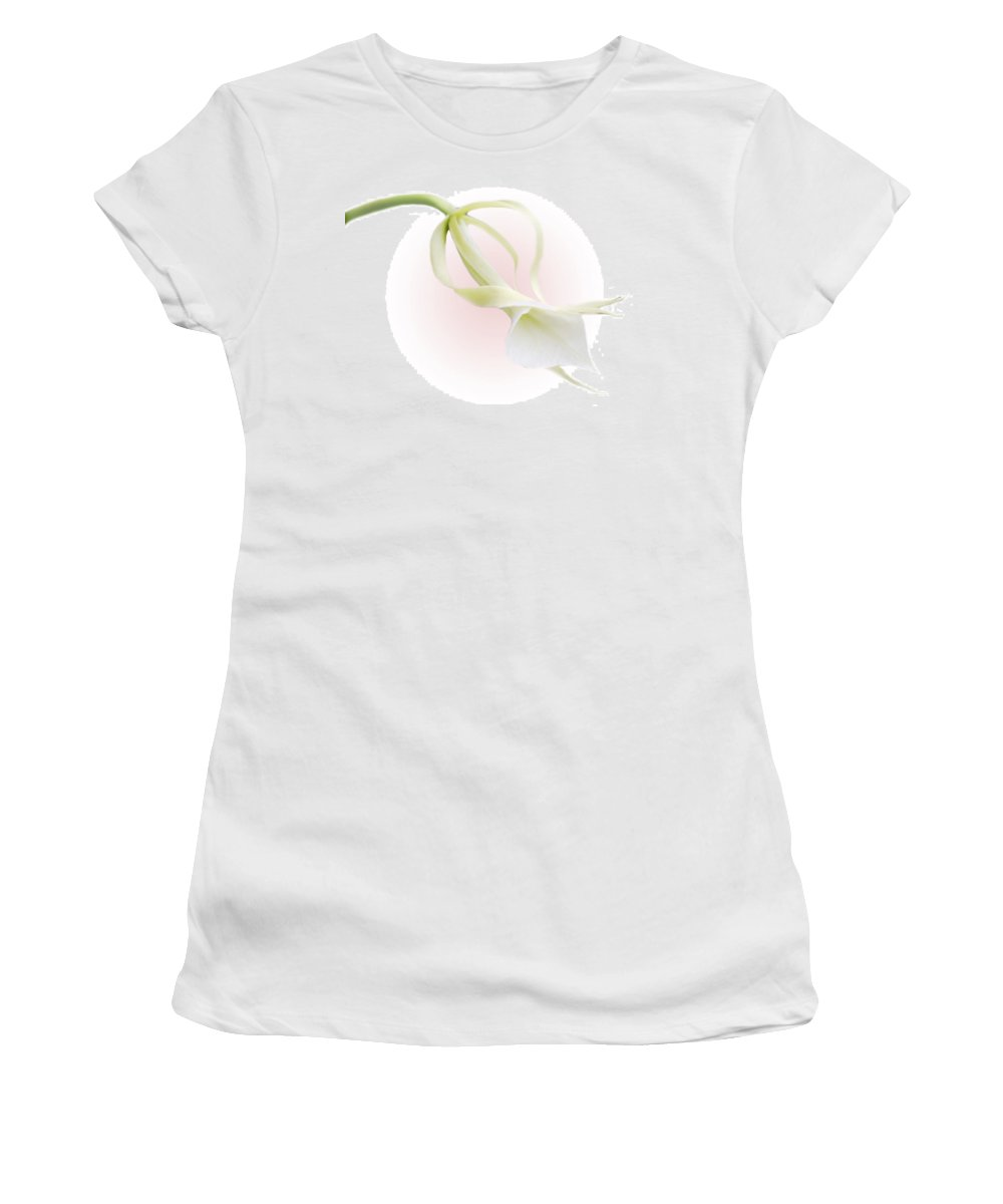 Love Women's T-Shirt featuring the photograph Valentine Orchid by Marilyn Hunt