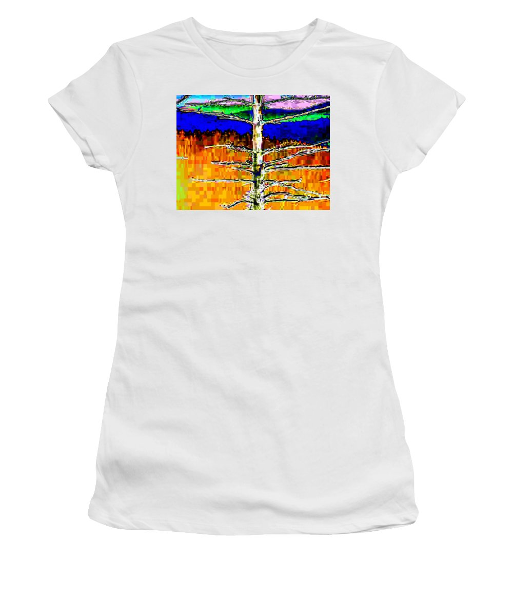 Valley Women's T-Shirt (Athletic Fit) featuring the photograph Valley View 1 by Tim Allen