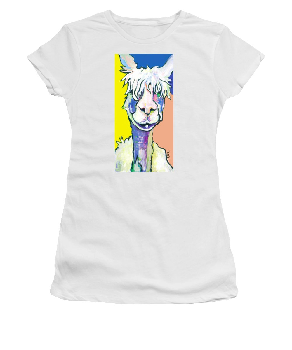 Mountain Animal Women's T-Shirt featuring the painting Veronica by Pat Saunders-White