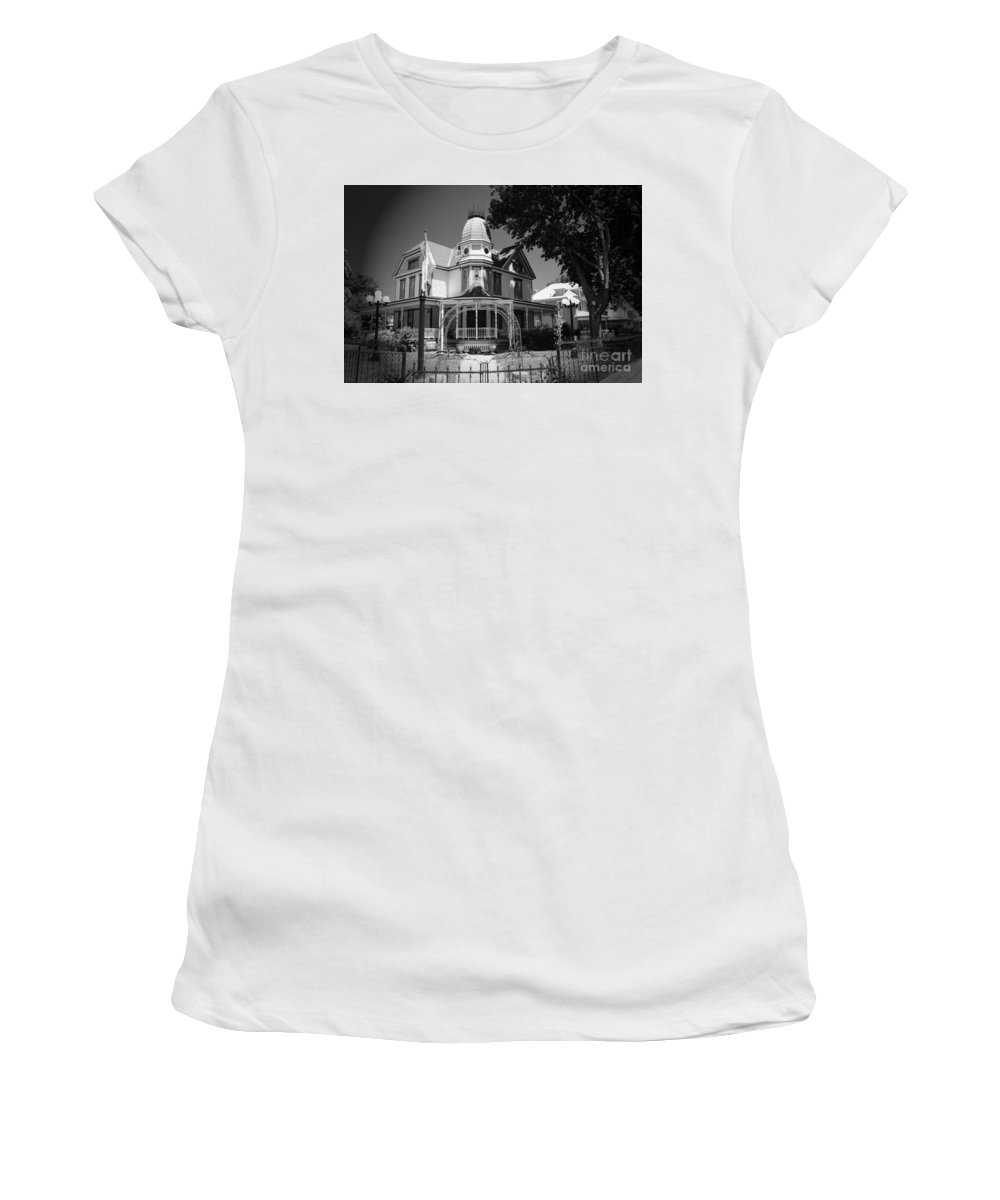Victorian Women's T-Shirt (Athletic Fit) featuring the photograph Victorian Home by Kathleen Struckle