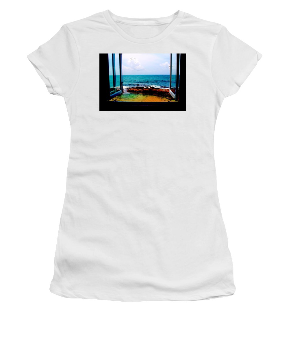 Window View Women's T-Shirt (Athletic Fit) featuring the photograph View From The Window by Meghan Hart