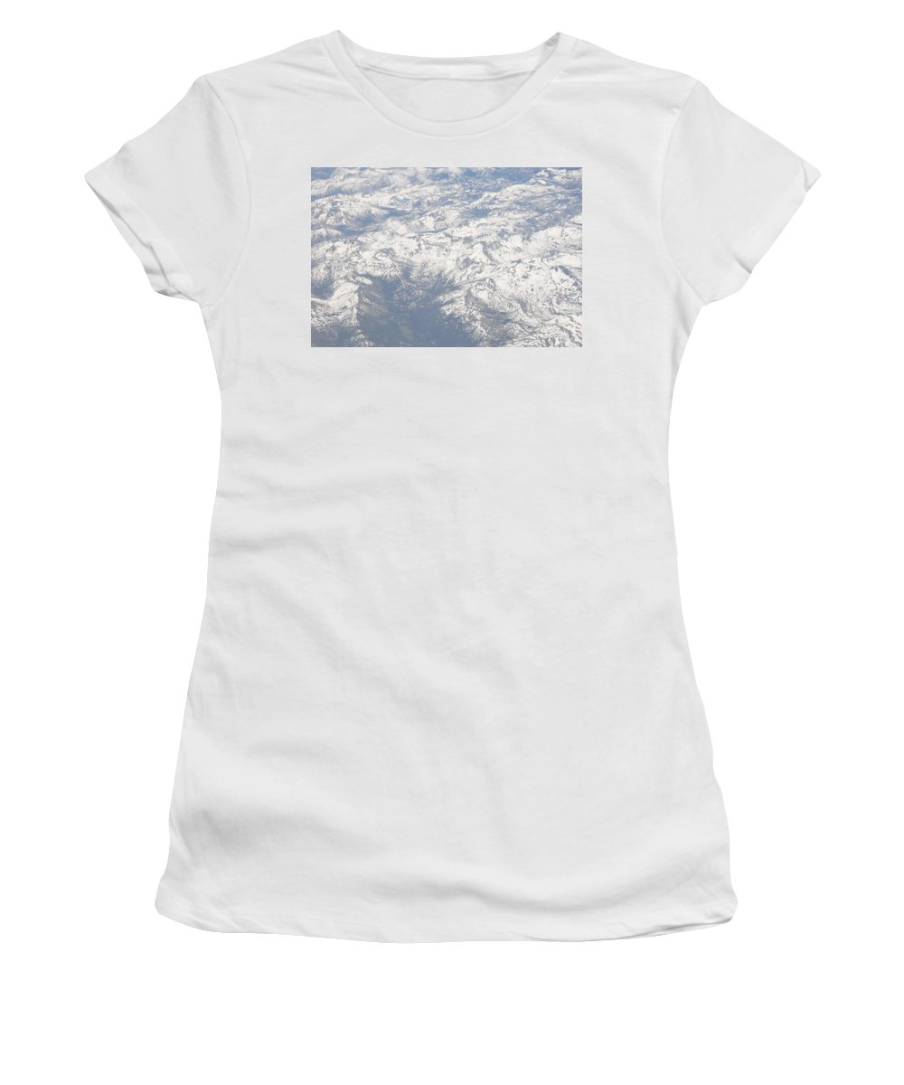 View Women's T-Shirt (Athletic Fit) featuring the photograph Views From The Sky by Terry Anderson