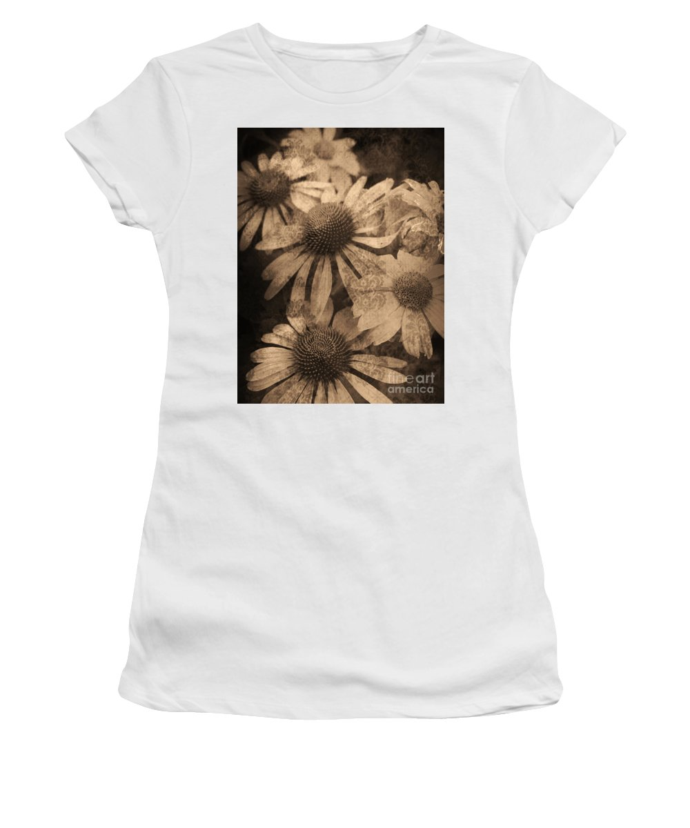 Vintage Women's T-Shirt (Athletic Fit) featuring the photograph Vintage Flowers by Tara Turner