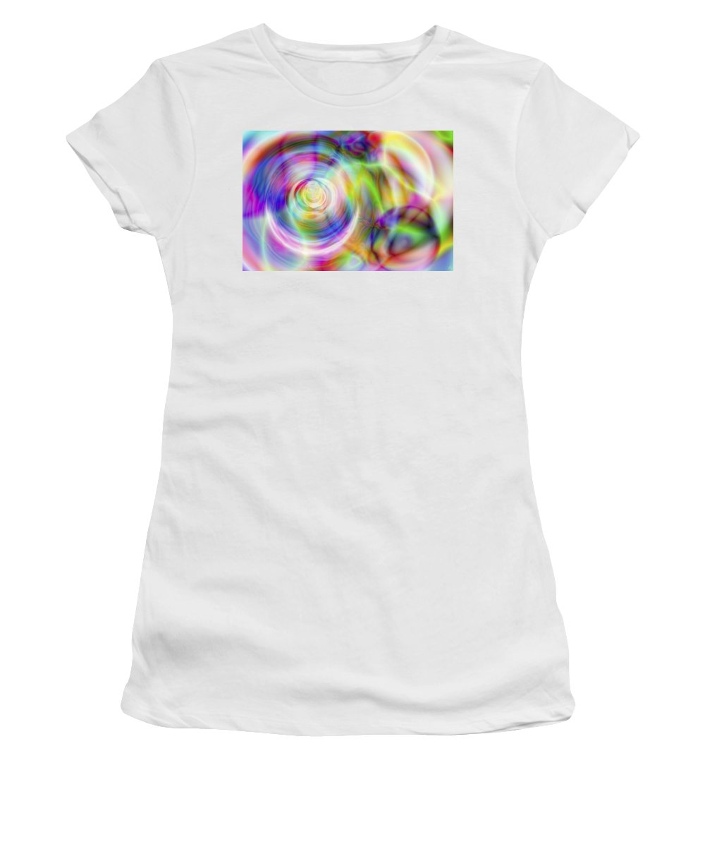 Crazy Women's T-Shirt featuring the digital art Vision 7 by Jacques Raffin