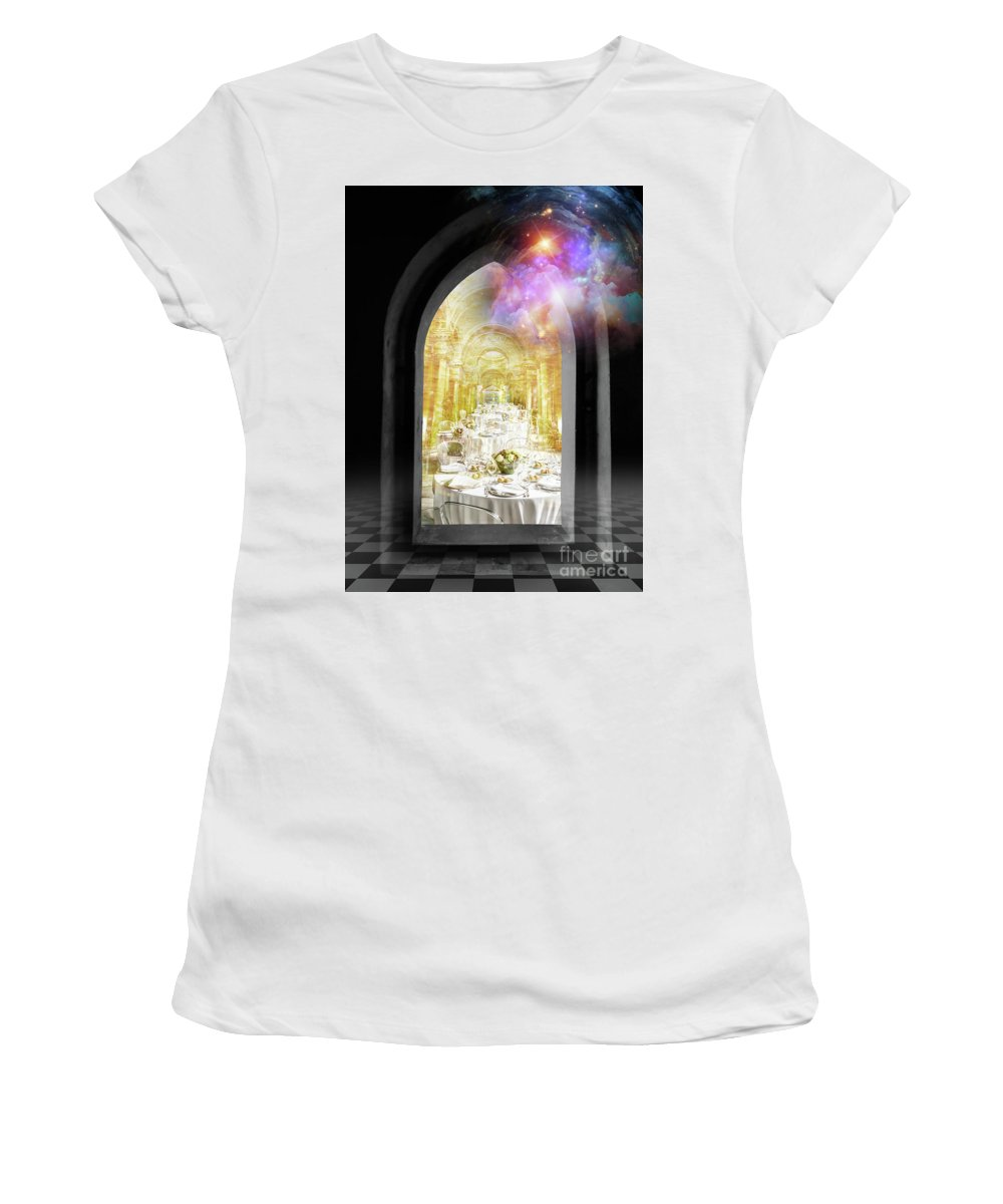 Vision Women's T-Shirt (Athletic Fit) featuring the digital art Vision by Esther Eunjoo Jun