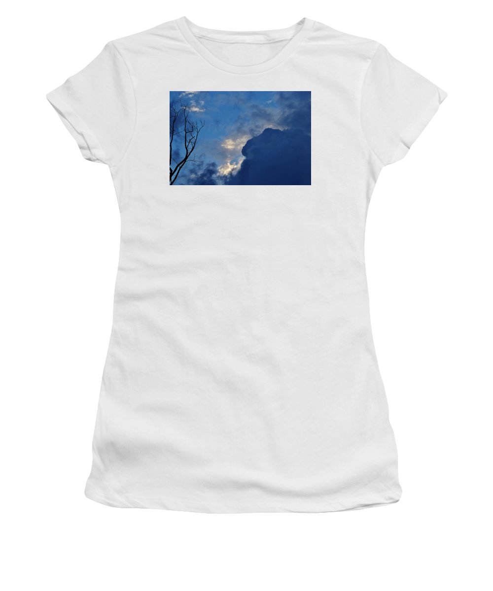 Weather Women's T-Shirt (Athletic Fit) featuring the photograph Volatile Autumn Weather by Eileen Brymer