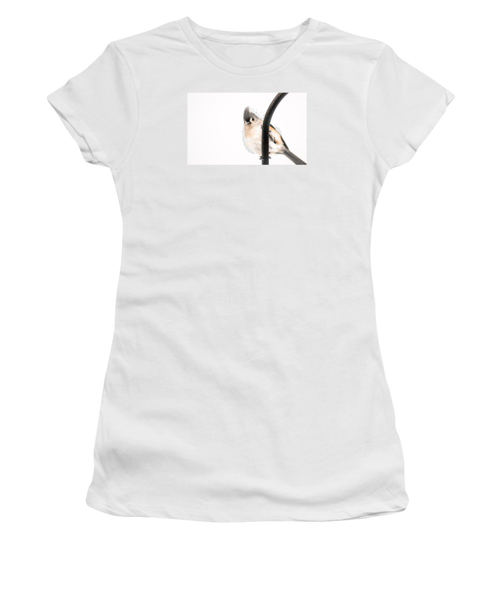 Bird Women's T-Shirt (Athletic Fit) featuring the photograph Watching by Heather Hubbard