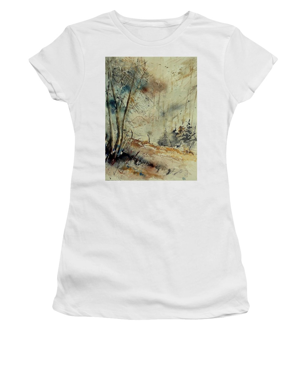 River Women's T-Shirt (Athletic Fit) featuring the painting Watercolor 902190 by Pol Ledent