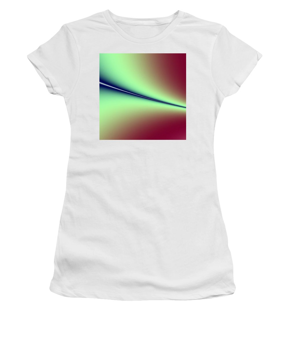 Digital Art Women's T-Shirt (Athletic Fit) featuring the digital art Way Out I by Dragica Micki Fortuna