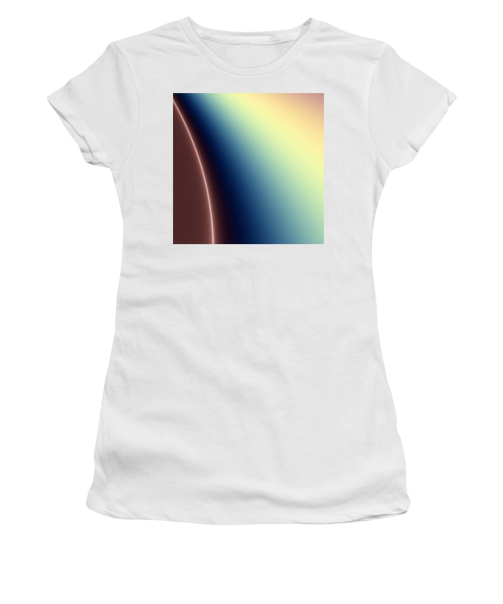 Digital Art Women's T-Shirt (Athletic Fit) featuring the digital art Way Out II by Dragica Micki Fortuna