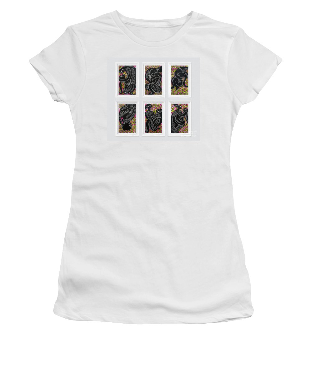 Love Memorandum Women's T-Shirt featuring the mixed media We Live, We Love by Chinaart Find