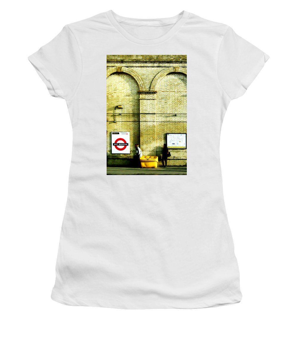 London Women's T-Shirt (Athletic Fit) featuring the photograph West Brompton by Osvaldo Hamer