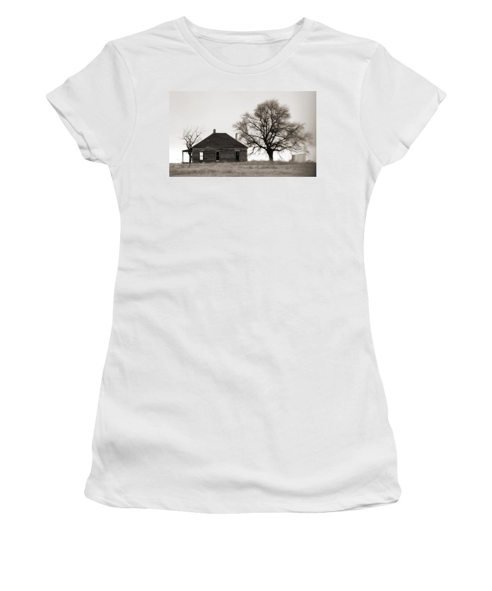 Texas Women's T-Shirt (Athletic Fit) featuring the photograph West Texas Winter by Marilyn Hunt