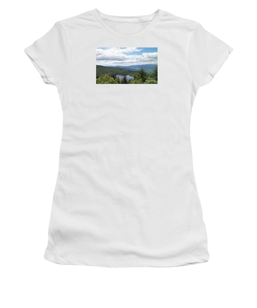New Hampshire Women's T-Shirt featuring the photograph White Mountains by Gina Sullivan