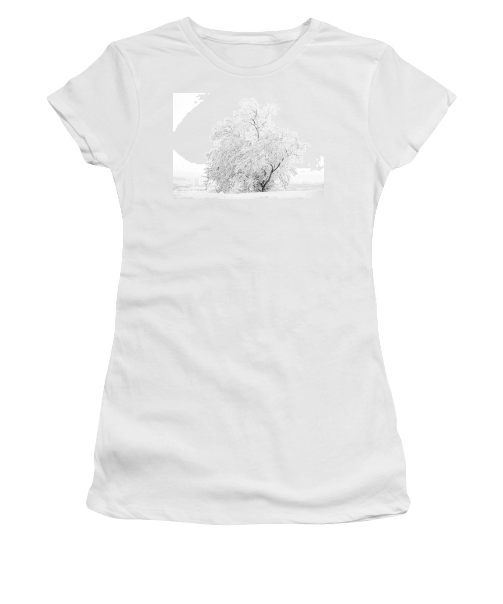 Snow Women's T-Shirt (Athletic Fit) featuring the photograph White On White by Marilyn Hunt