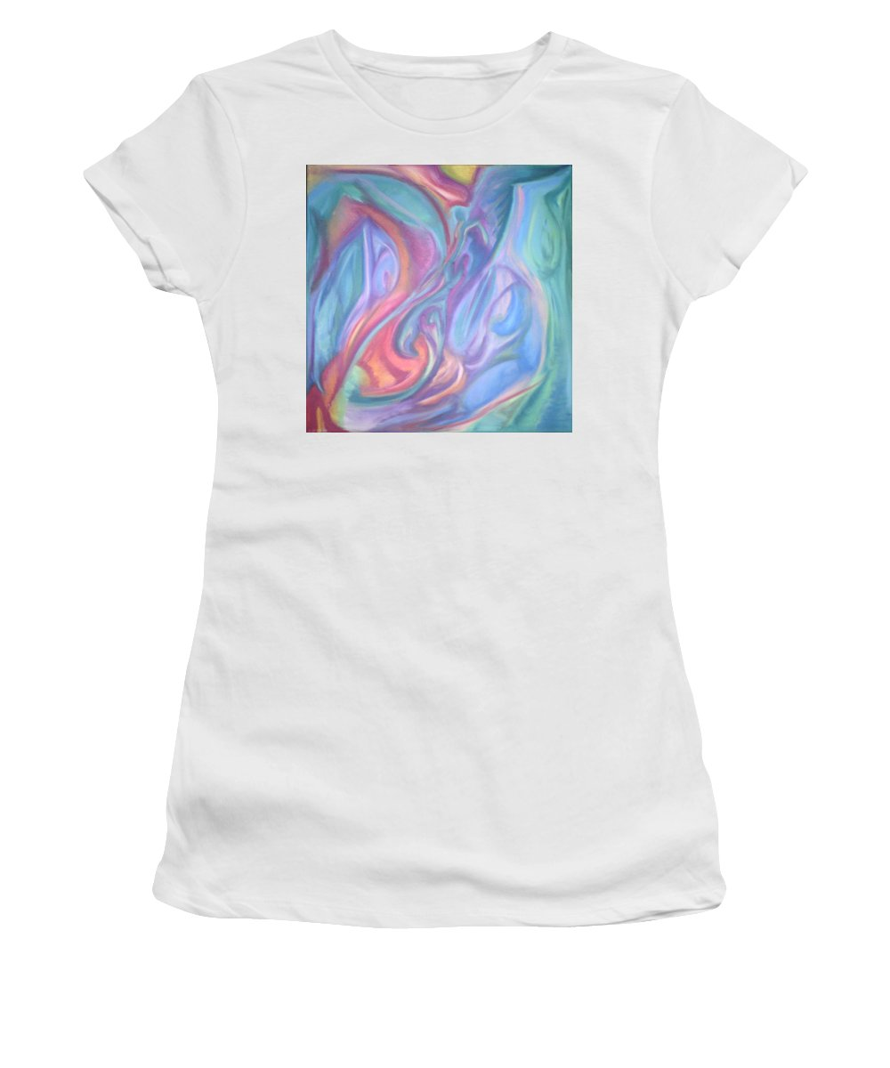 Women's T-Shirt (Athletic Fit) featuring the pastel Whitout Titel by Sitara Bruns