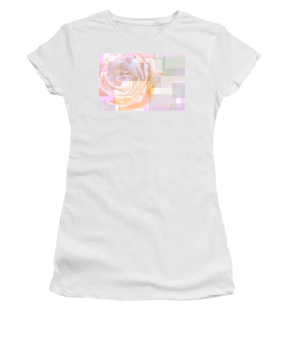 Rose Women's T-Shirt (Athletic Fit) featuring the photograph Wild Rose by Donna Bentley