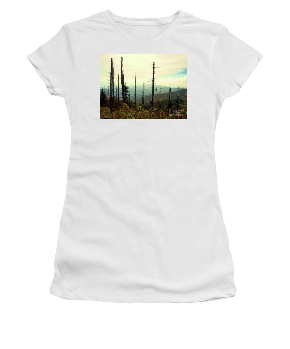 Wildfire Women's T-Shirt (Athletic Fit) featuring the mixed media Wildfire by Desiree Paquette