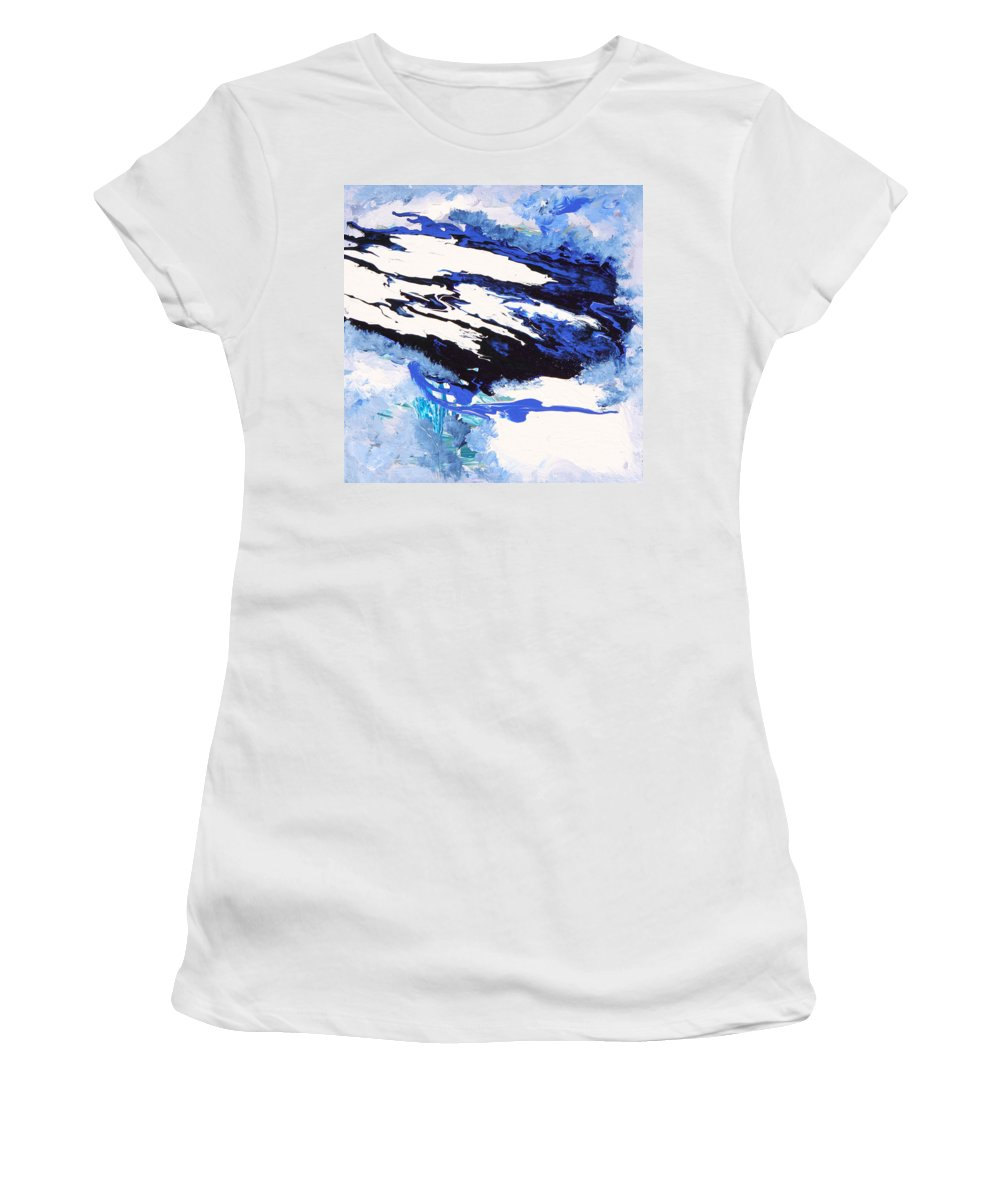 Fusionart Women's T-Shirt featuring the painting Wind by Ralph White