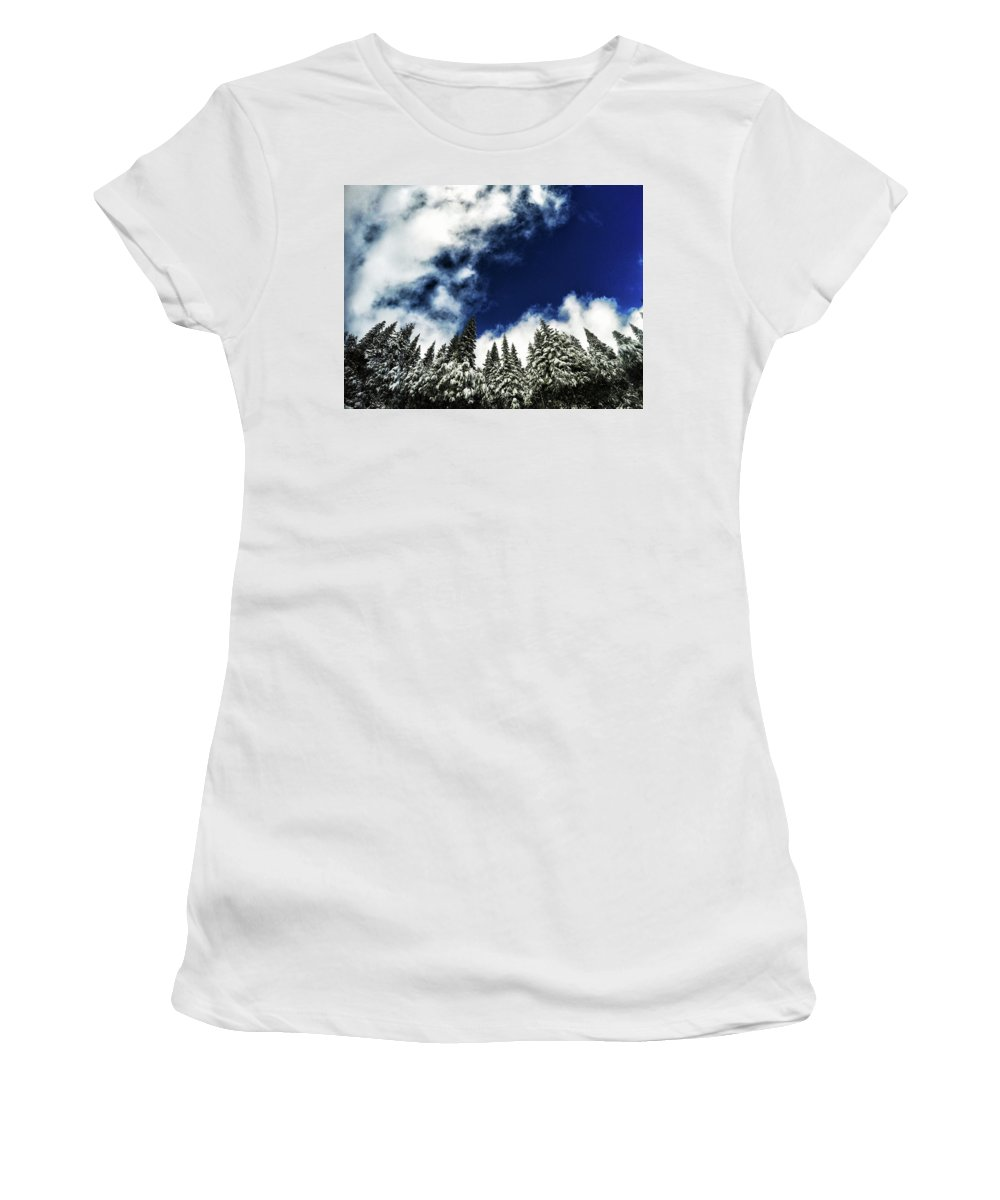 Tree Women's T-Shirt (Athletic Fit) featuring the photograph Winter Trees by Aaron James