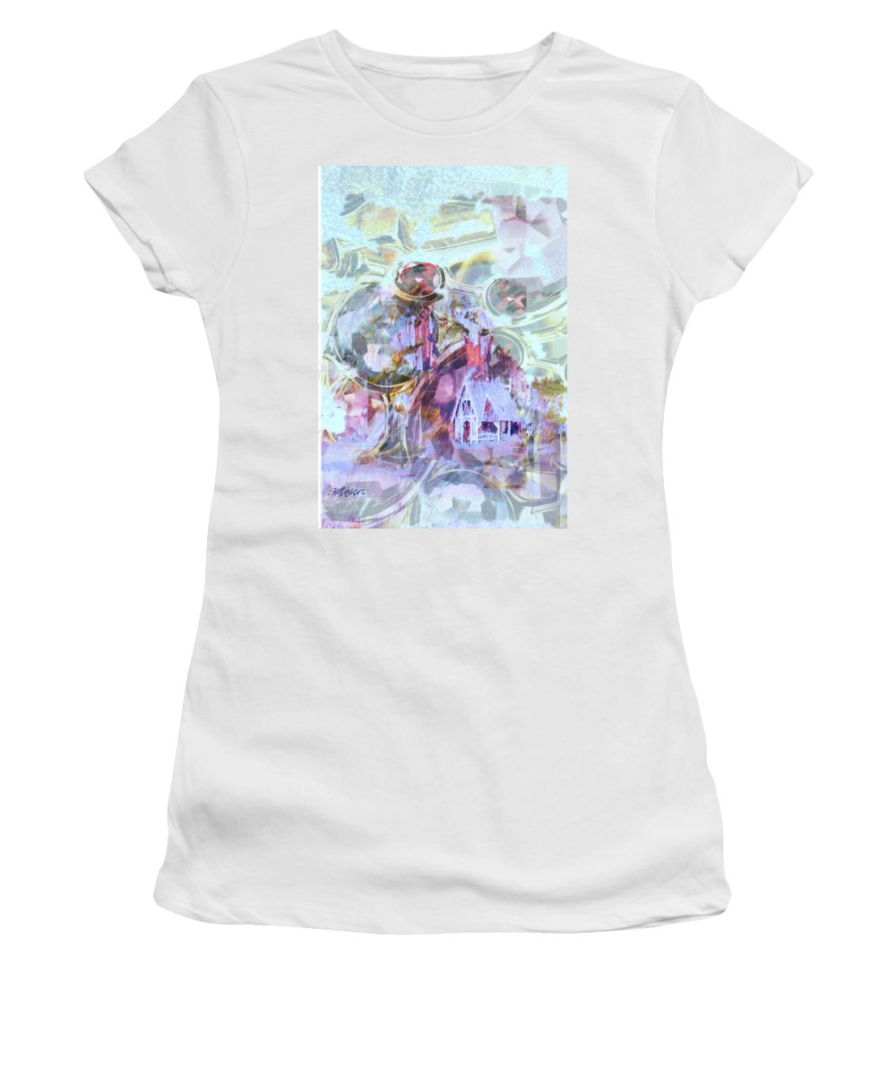 Winter Wind Women's T-Shirt (Athletic Fit) featuring the digital art Winters Blast by Seth Weaver