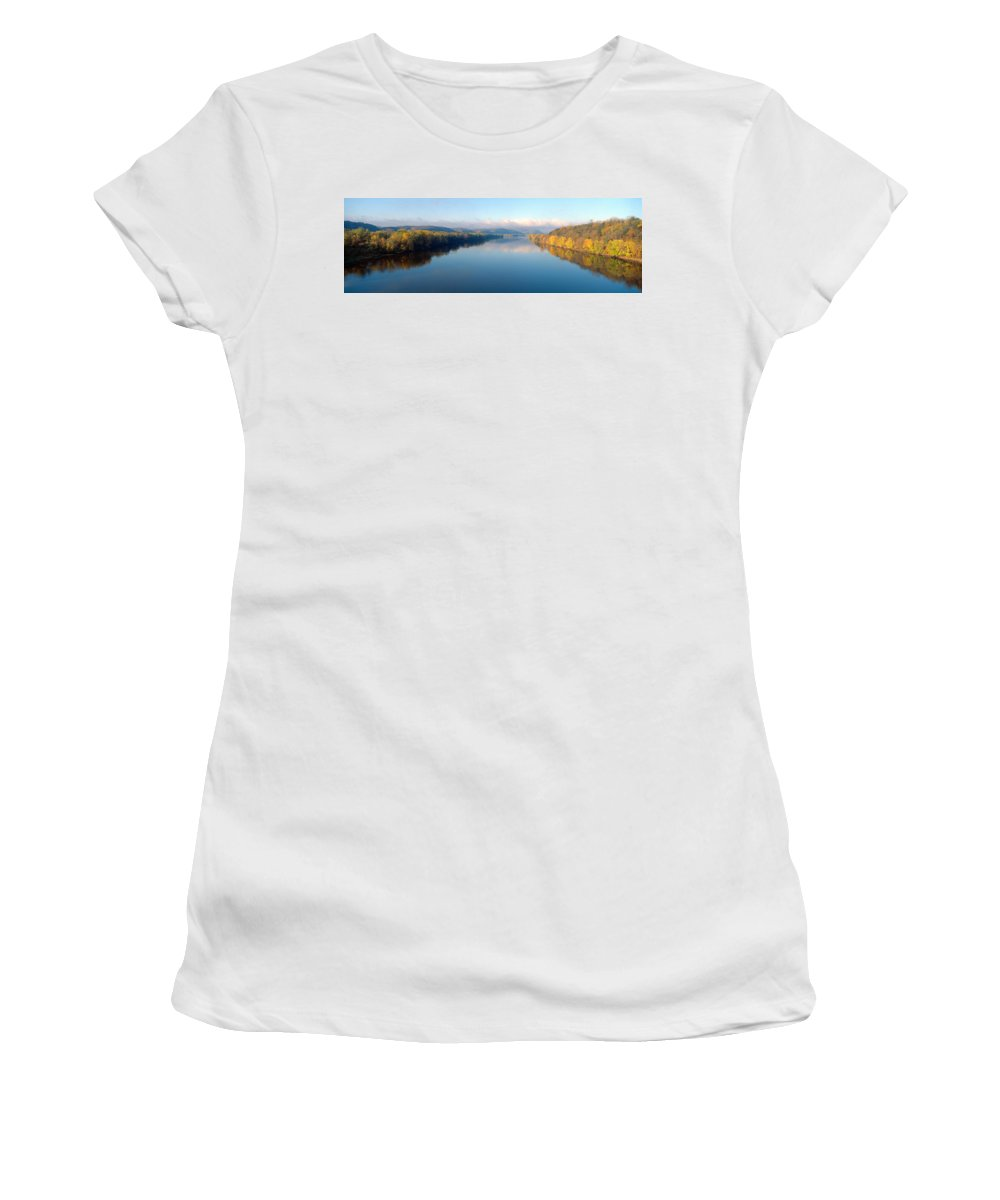 Photography Women's T-Shirt featuring the photograph Wisconsin River And Prairie De Chen by Panoramic Images