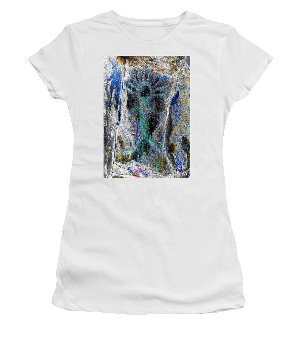 Yakima Washington Women's T-Shirt (Athletic Fit) featuring the painting Yakima Man by David Lee Thompson